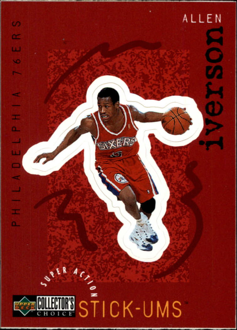 1997-98 Collector's Choice Stick-Ums #S20 Allen Iverson