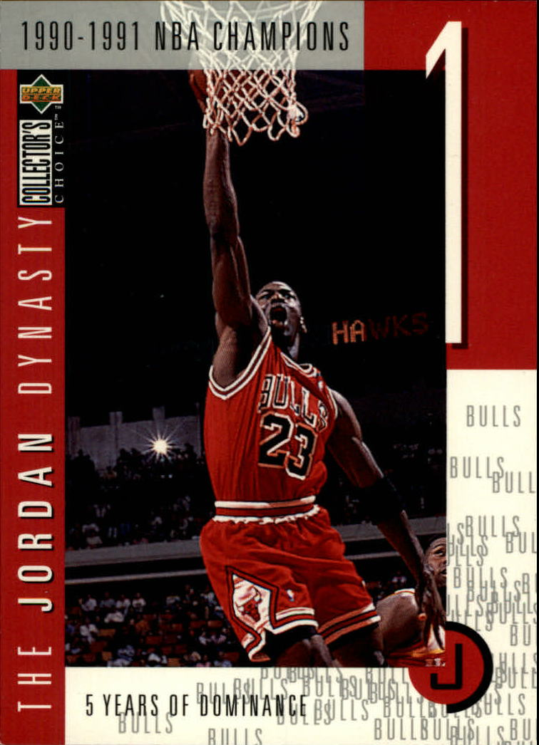 1997-98 Collector's Choice The Jordan Dynasty #1 Michael Jordan/1990-91 NBA Champs