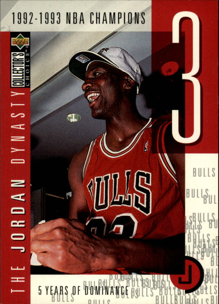 1997-98 Collector's Choice The Jordan Dynasty #3 Michael Jordan/1992-93 NBA Champs