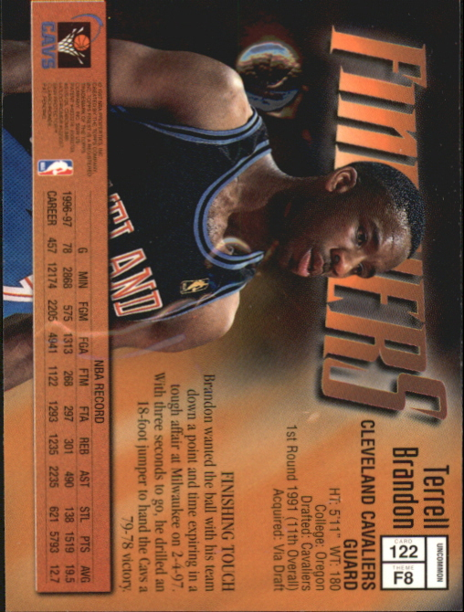 1997-98 Finest Embossed #122 Terrell Brandon S back image
