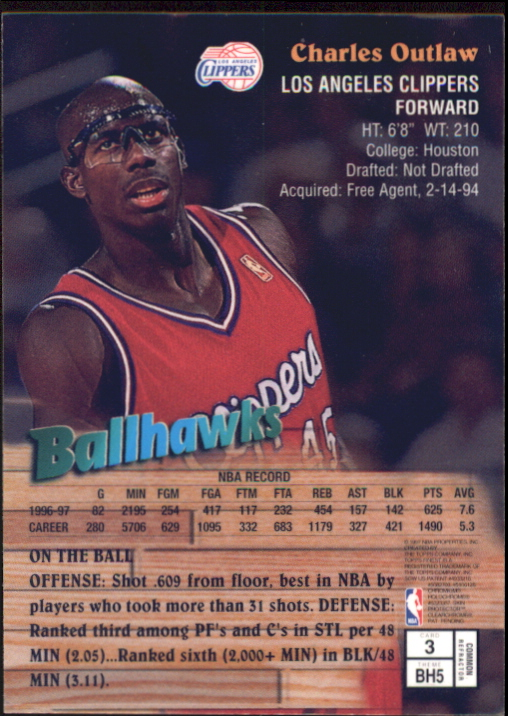1997-98 Finest Refractors #3 Bo Outlaw B back image