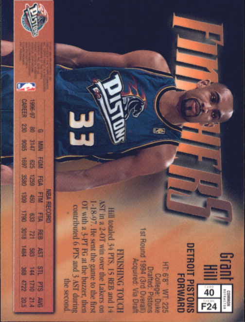 1997-98 Finest Refractors #40 Grant Hill B back image