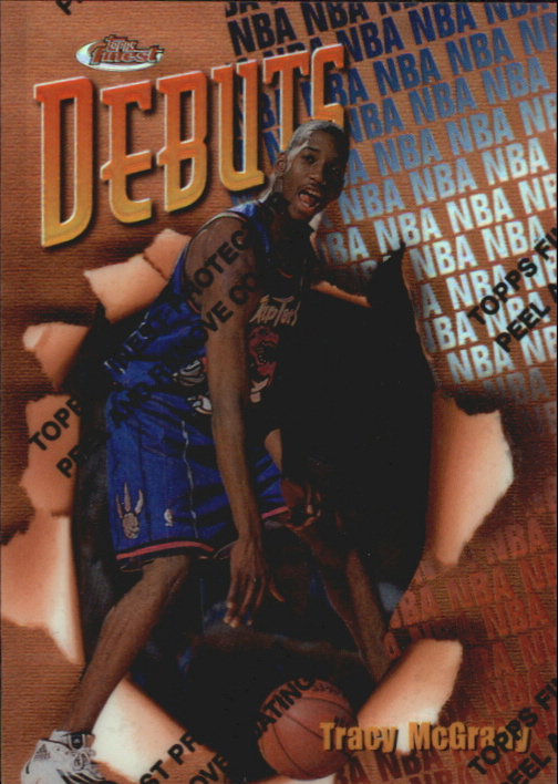 1997-98 Finest Refractors #107 Tracy McGrady B