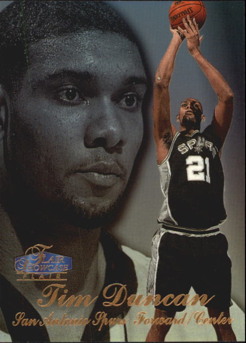1997-98 Flair Showcase Row 3 #5 Tim Duncan RC