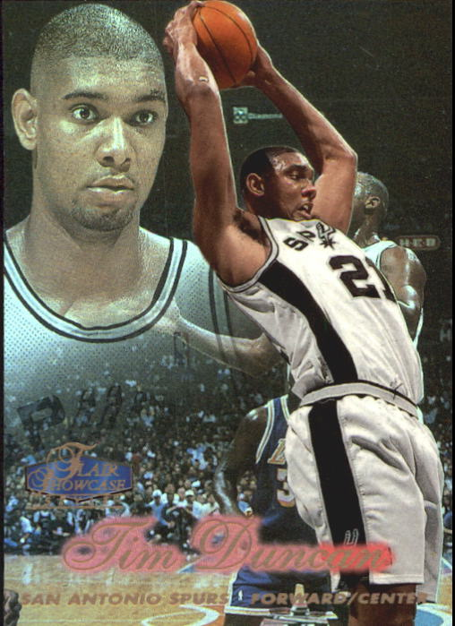 1997-98 Flair Showcase Row 2 #5 Tim Duncan