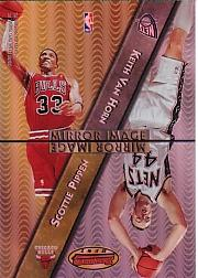 1997-98 Bowman's Best Mirror Image Refractors #MI4 Scottie Pippen/Keith Van Horn/Kobe Bryant/Cedric Ceballos