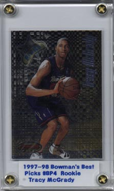 1997-98 Bowman's Best Picks #BP4 Tracy McGrady