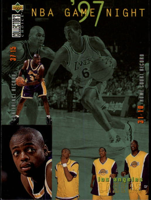 1997-98 Collector's Choice #168 Eddie Jones/Shaquille O'Neal/Kobe Bryant/Nick Van Exel