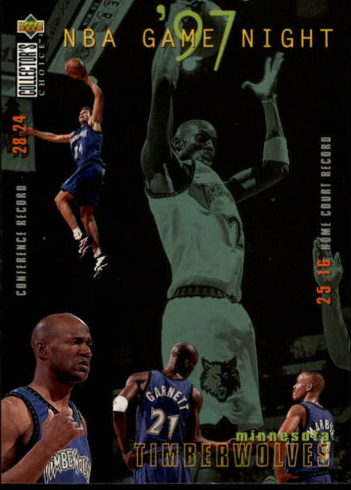 1997-98 Collector's Choice #171 Kevin Garnett/Stephon Marbury/Terry Porter/Tom Gugliotta