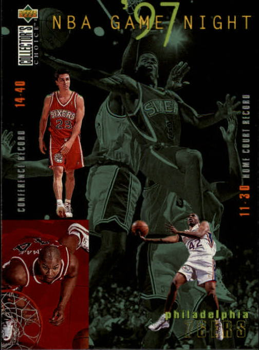 1997-98 Collector's Choice #175 Allen Iverson/Jerry Stackhouse/Derrick Coleman/Rex Walters