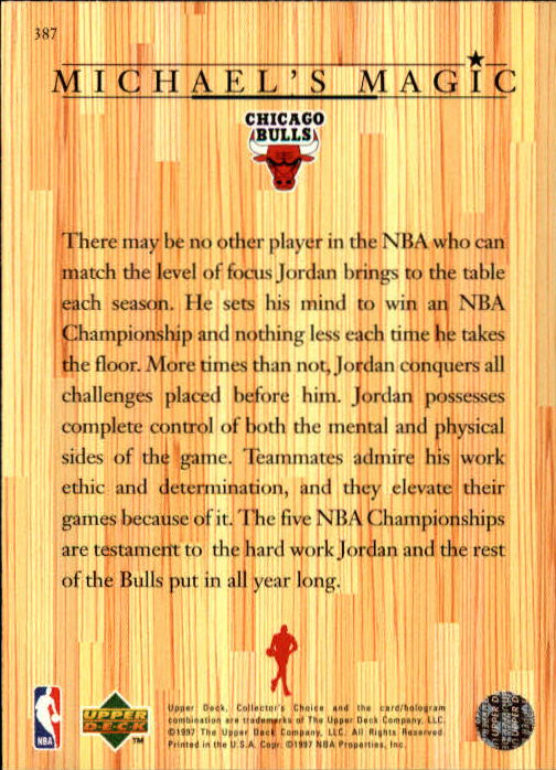 1997-98 Collector's Choice #387 Michael Jordan MM