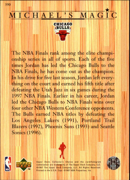 1997-98 Collector's Choice #390 Michael Jordan MM