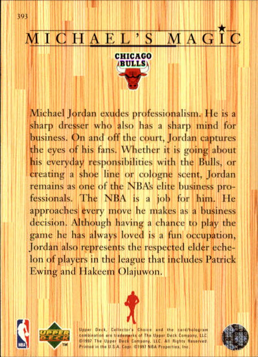 1997-98 Collector's Choice #393 Michael Jordan MM back image