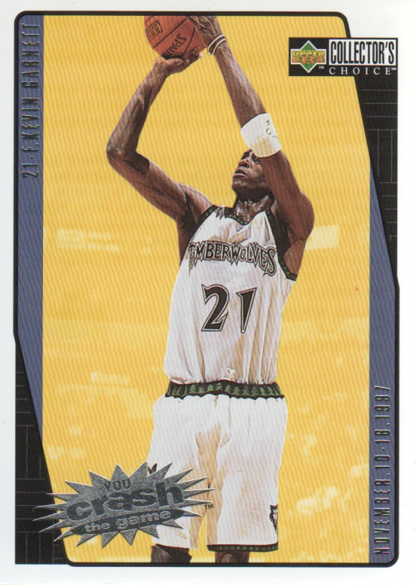 1997-98 Collector's Choice Crash the Game Scoring #C16A Kevin Garnett 11/10 L