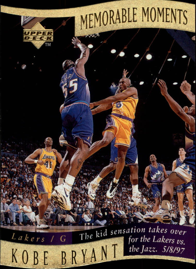 1997-98 Collector's Choice Memorable Moments #4 Kobe Bryant
