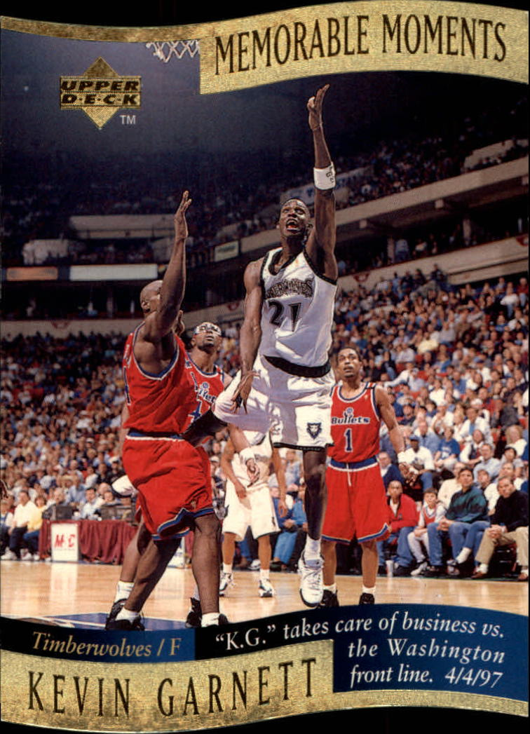 1997-98 Collector's Choice Memorable Moments #5 Kevin Garnett