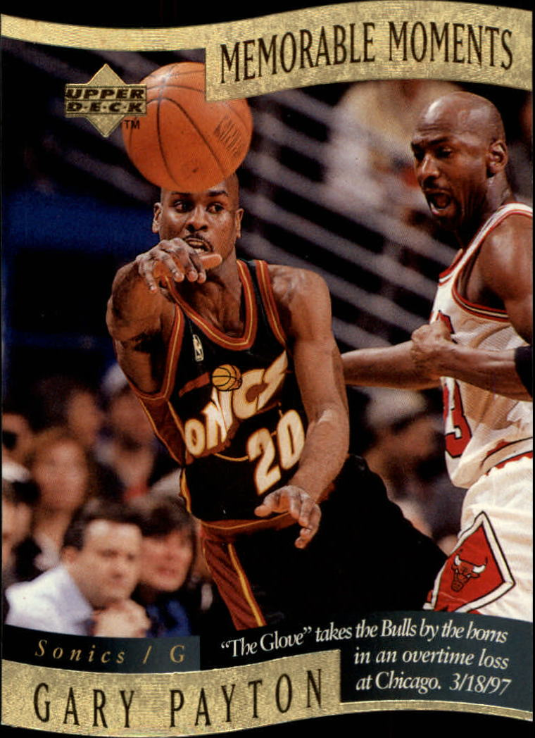 1997-98 Collector's Choice Memorable Moments #9 Gary Payton