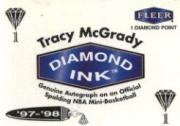 1997-98 Fleer Diamond Ink #9A Tracy McGrady 1pt.
