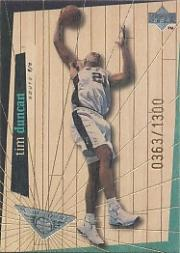 1998 Upper Deck Hardcourt High Court #H24 Tim Duncan