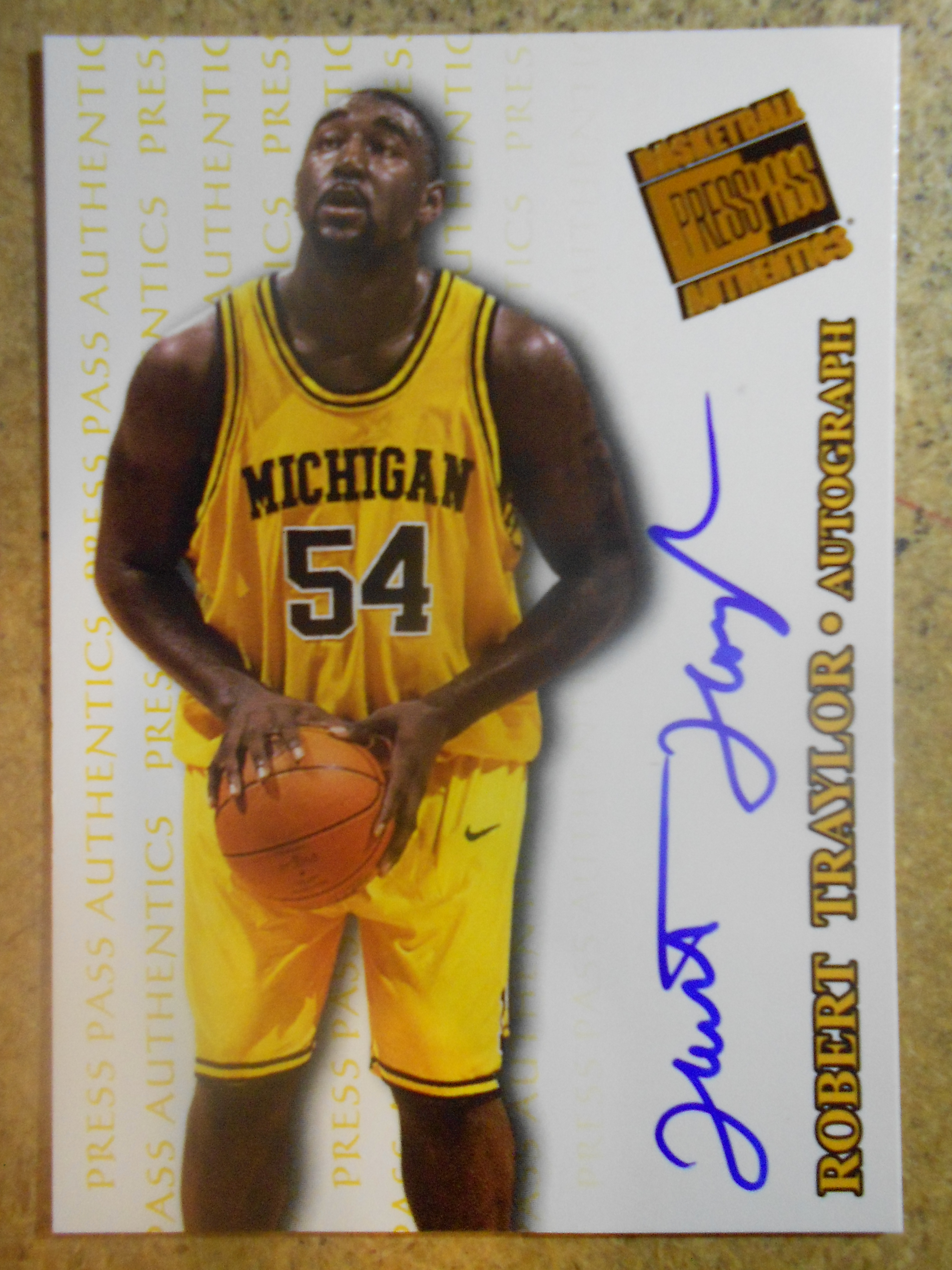 1998 Press Pass Authentics Autographs #9 Robert Traylor