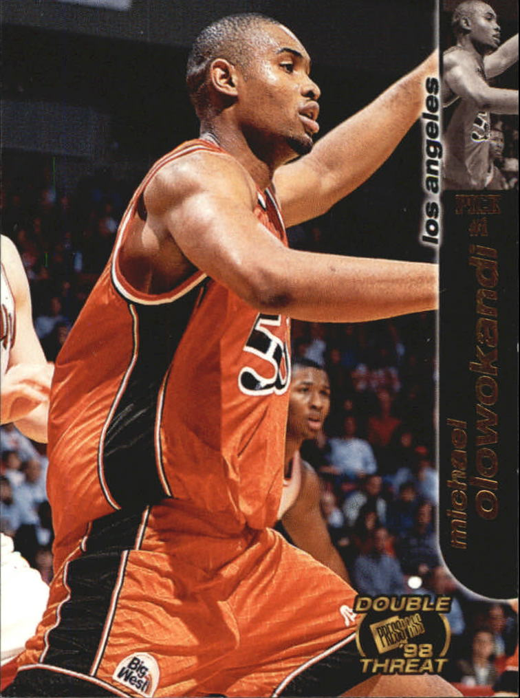 1998 Press Pass Double Threat #1 Michael Olowokandi
