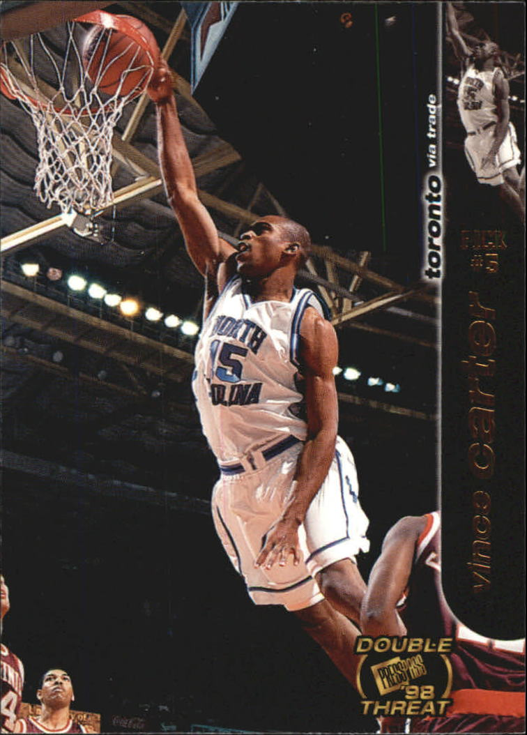 1998 Press Pass Double Threat #4 Vince Carter