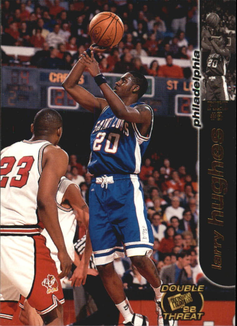 1998 Press Pass Double Threat #7 Larry Hughes