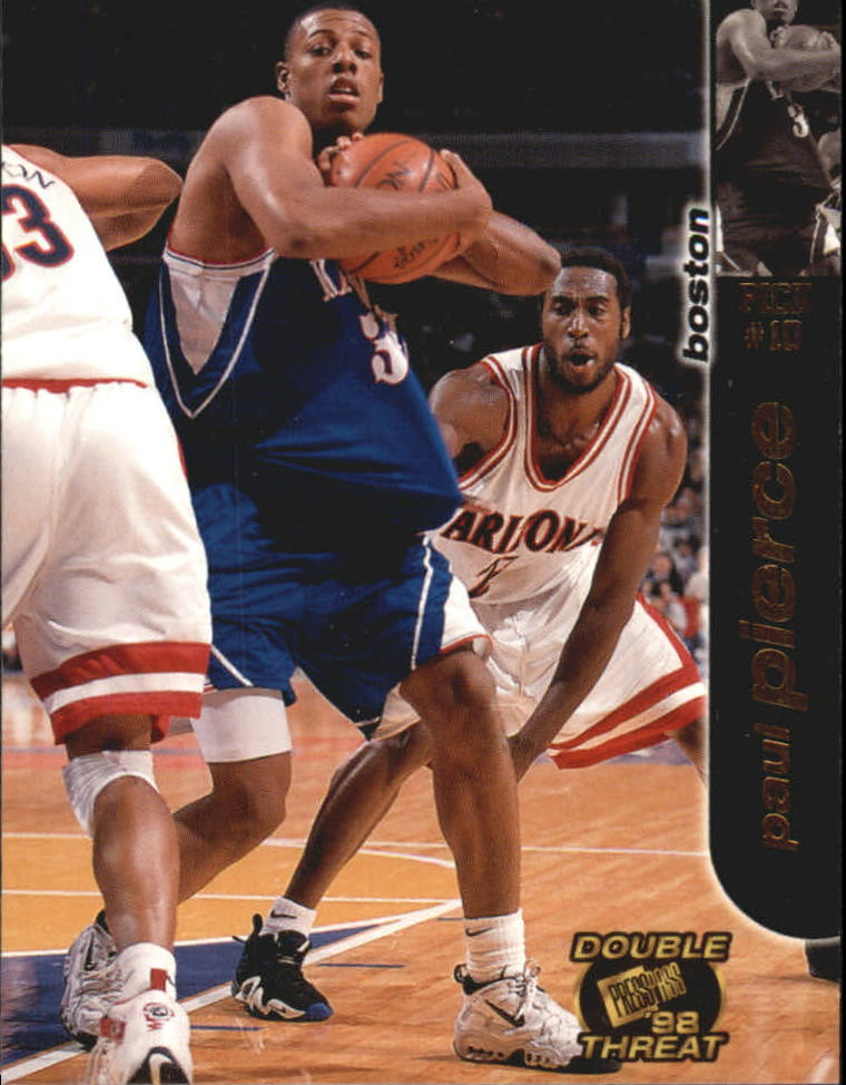 1998 Press Pass Double Threat #8 Paul Pierce