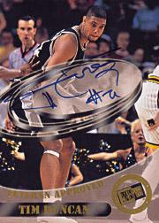 1998 Press Pass Double Threat Veteran Approved Autographs #2 Tim Duncan