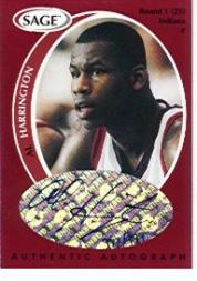 1998 SAGE Autographs #A18 Al Harrington/999