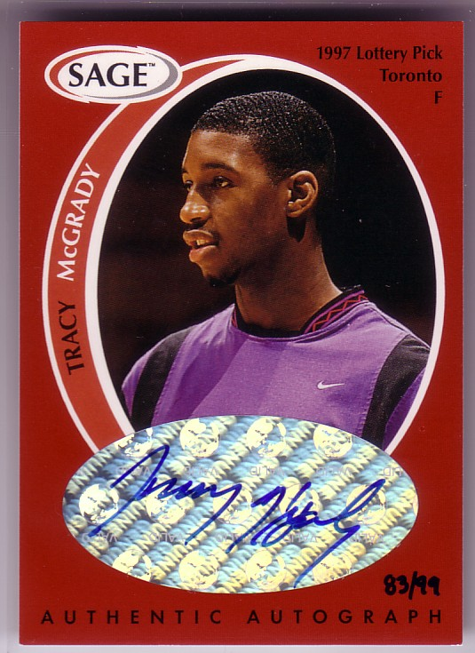 1998 SAGE Autographs #A30 Tracy McGrady/99