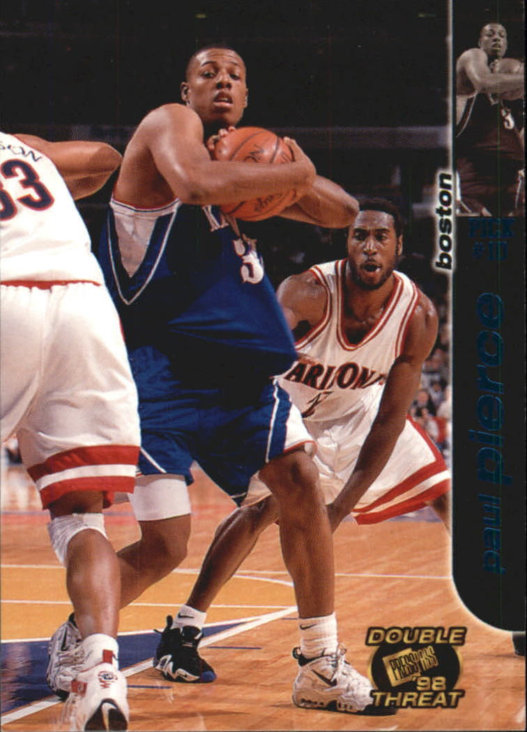 1998 Press Pass Double Threat Torquers #8 Paul Pierce