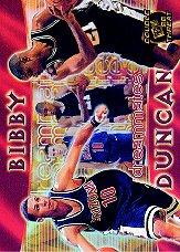 1998 Press Pass Double Threat Dreammates #DM1 Mike Bibby/Tim Duncan