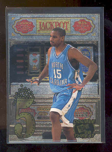 1998 Press Pass Double Threat Jackpot #J2B Vince Carter