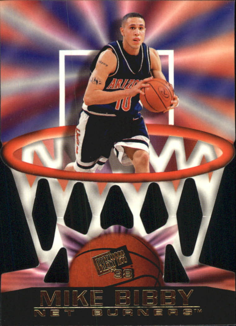 1998 Press Pass Net Burners #1 Mike Bibby front image