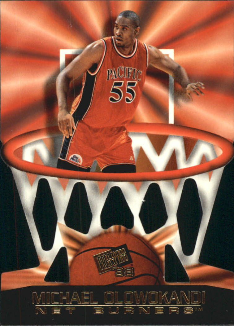 1998 Press Pass Net Burners #6 Michael Olowokandi