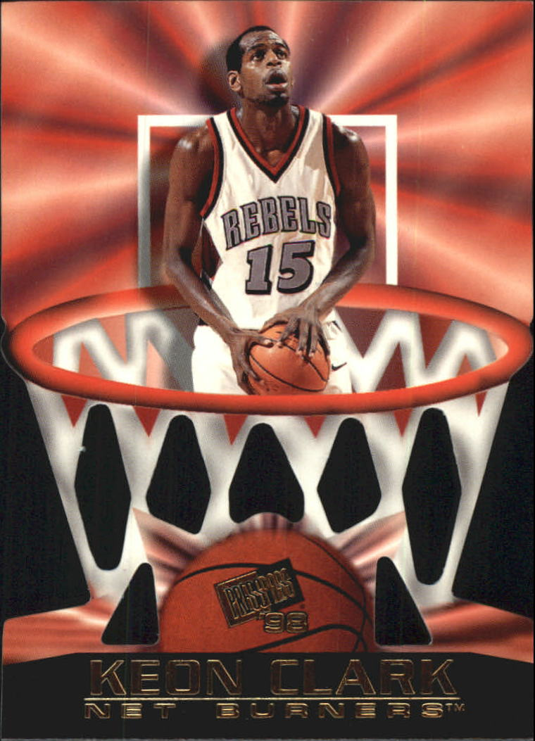 1998 Press Pass Net Burners #8 Keon Clark
