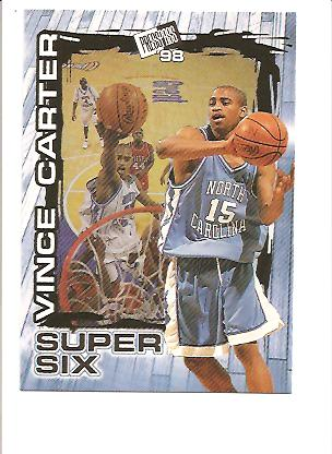 1998 Press Pass Super Six #S4 Vince Carter