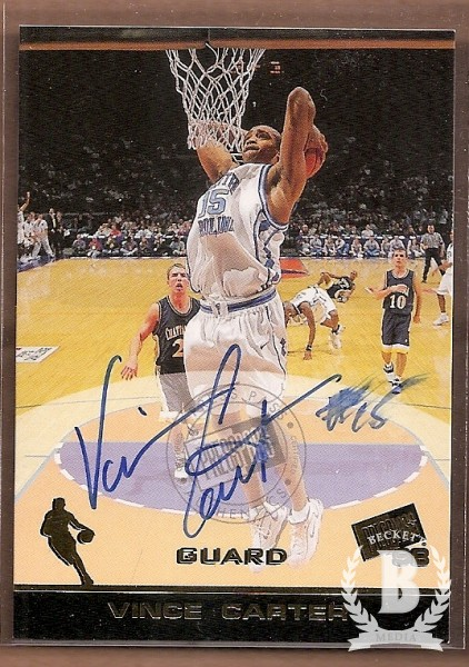 1998 Press Pass Autographs #7 Vince Carter