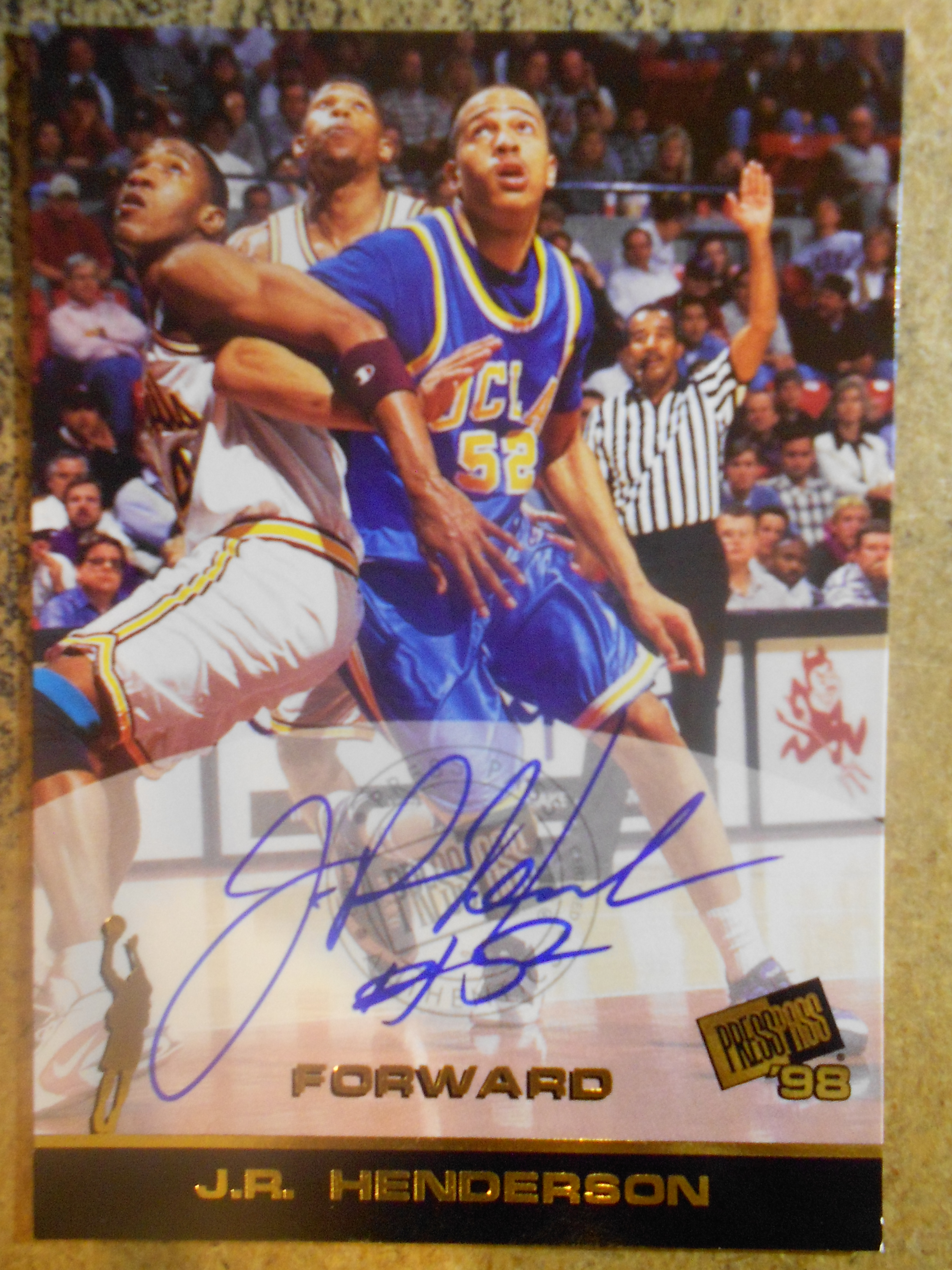 1998 Press Pass Autographs #15 J.R. Henderson
