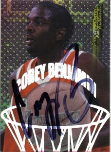 1998 Collector's Edge Impulse Pro Signatures #3 Corey Benjamin