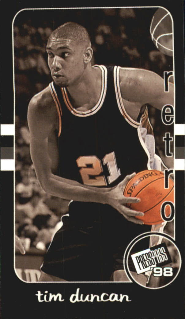 1998 Press Pass Double Threat Retros #R30 Tim Duncan