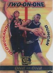 1998 Press Pass Double Threat Two-On-One #TO5 Michael Olowokandi/Tim Duncan