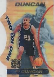 1998 Press Pass Double Threat Two-On-One #TO6 Tim Duncan