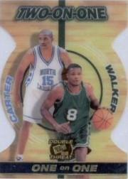 1998 Press Pass Double Threat Two-On-One #TO11 Vince Carter/Antoine Walker