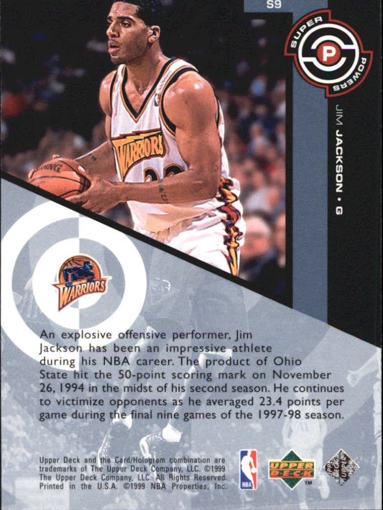 1998-99 Upper Deck Super Powers #S9 Jim Jackson