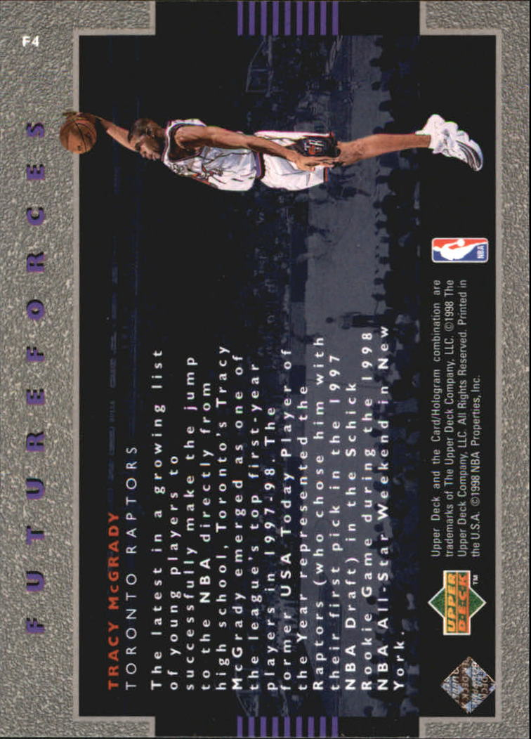 1998-99 Upper Deck Ovation Future Forces #F4 Tracy McGrady