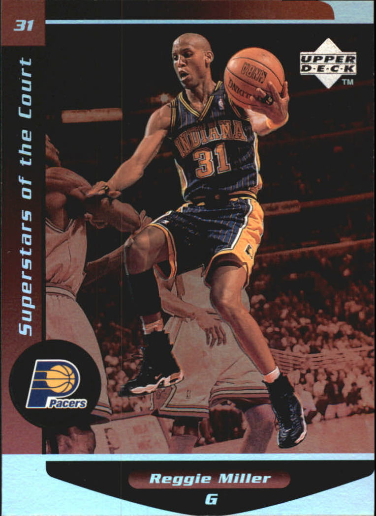 1998-99 Upper Deck Ovation Superstars of the Court #C11 Reggie Miller
