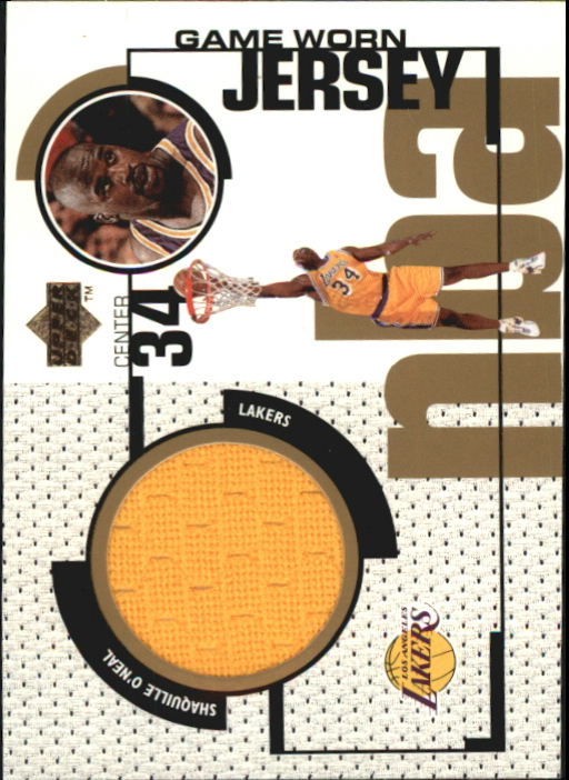 1998-99 Upper Deck Game Jerseys #GJ34 Shaquille O'Neal