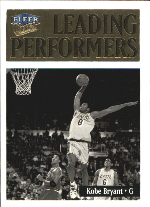 1998-99 Ultra Leading Performers #3 Kobe Bryant